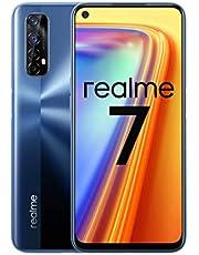"Realme 7 (64GB, 6GB RAM) 6.5"" 90Hz Display, 5000mAh Battery, 48MP Quad Camera, Global 4G LTE GSM Factory Unlocked, International Model - RMX2155 (Mist Blue)"