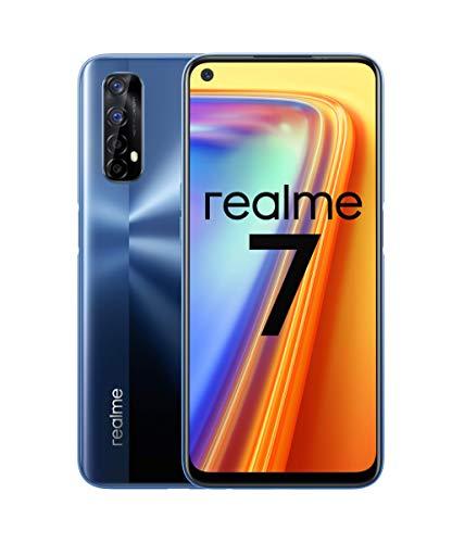 """realme 7 - Smartphone 6.5"""", 6GB RAM + 64GB ROM, LCD FHD+, Octa-Core Helio G95 Gaming, 4x cámara 48MP Sony + 16MP Frontal, Dual SIM + 1 Micro SD. Azul Niebla [Versión ES/PT]"""