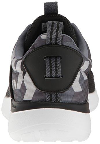 Adidas Originals Mens Cloudfoam Lite Racer Running Schoen Zwart / Onix / Donker Grijs Heather