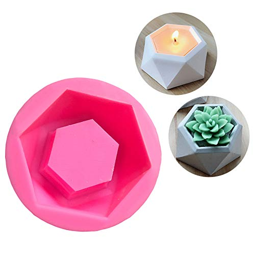 DIY Silicone Flower Pot Mold Diamond Shaped Molds for Candle Holder Making Succulent Plants Planter Pot Mould Concrete Moulds Color - Pot Mold