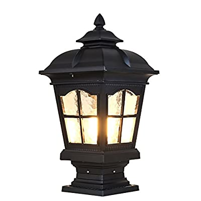 CGJDZMD Pillar Lamp European-Style Simplicity Waterproof Antirust Aluminum Column Lamp Outdoor LED Post Light Garage Pavilion Courtyard Courtyard Lighting