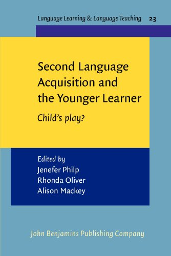 Second Language Acquisition And The Younger Learner: Child's Play?