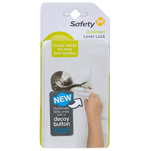 Safety 1st OutSmart Child Proof Door Lever Lock (White) ()