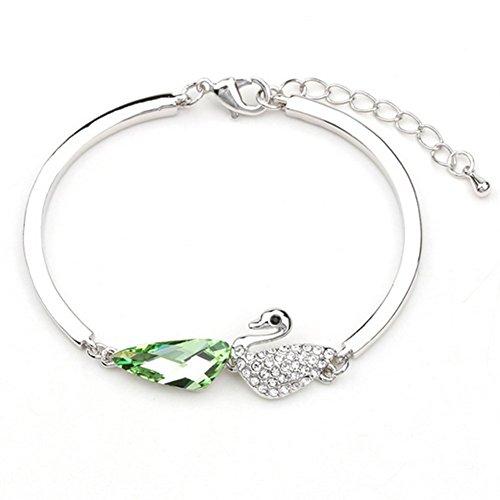 [My.Monkey Swan Austrial Crystal Lady Bracelet(C1)] (Black Swan Couple Costume Ideas)