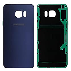 Luvss New Back Glass Replacement [Samsung Galaxy S6 Edge Plus] G928 (All Carriers) Rear Cover Glass Panel Case Housing Adhesive Preinstalled Repair Part (Blue)