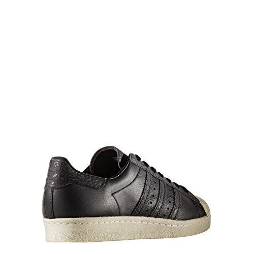 adidas Men's Superstar 80s Fitness Shoes, White Black (Core Black / Core Black / Solar Red)