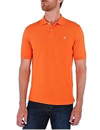 Playera Tipo Polo Piqué Básica Naranja