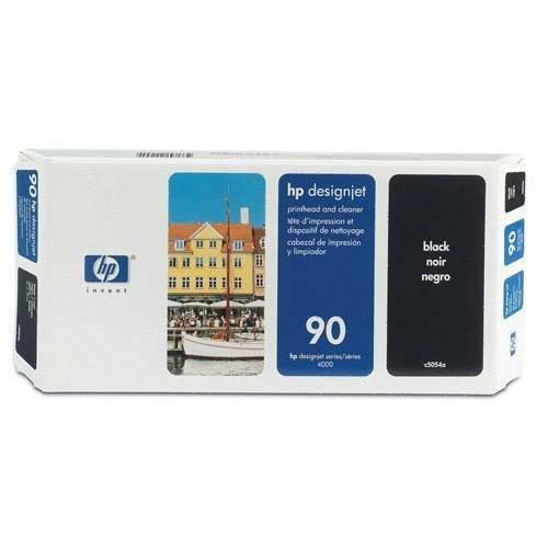 HP 90 Black and Cleaner DesignJet Original Ink Cartridge (C5054A)