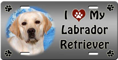 Canine Designs I Love My Labrador Retriever License - Retriever Accessories Decorative Labrador