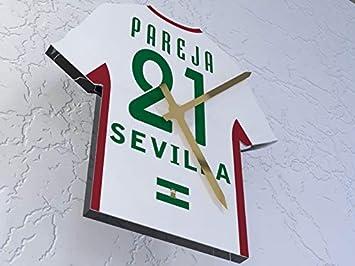 MyShirt123 Sevilla FC Fútbol Club - Camiseta de fútbol Reloj - Cualquier Nombre y Cualquier número - Elegir.: Amazon.es: Deportes y aire libre