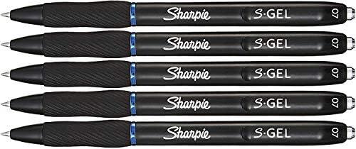 Sharpie S-ジェル ジェルペン 中細 (0.7mm) ブルーインクゲルペン 36本 5本入りケース