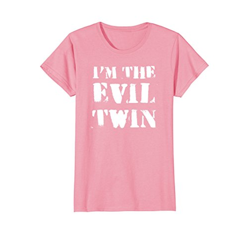 Womens Im The Evil Twin | Funny Halloween Horror Shirt Medium (Good Evil Costumes Ideas)
