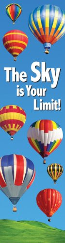 Free Eureka Vertical Classroom Banner, The Sky is Your Limit, 45 x 12 Inches