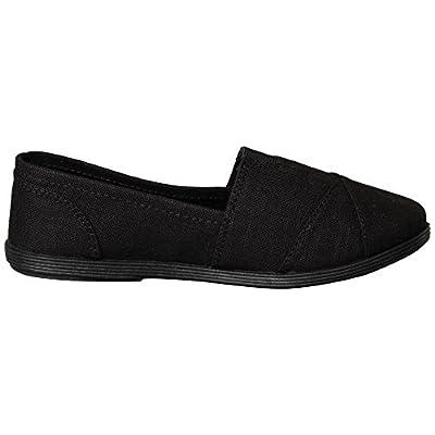 Soda Women's Obji Memory Foam Comfort Canvas Slip On Flats | Loafers & Slip-Ons