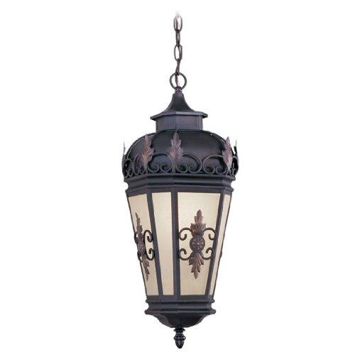 Livex Lighting 2195-07 Berkshire 1-Light Outdoor Hanging Lantern, Bronze