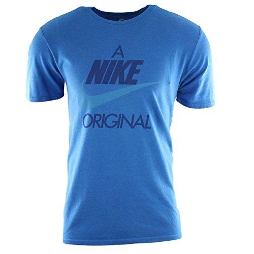 Nike Mens M NSW TEE RED HBR 1 913355-055_XL - Birch Heather/Blue Nebula/Equator Blue