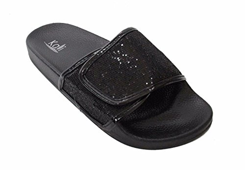 Kali Footwear Women's Bling Sparkly Star Slides Sandals (7 B(M) US, (Glitter Gladiator Sandals)