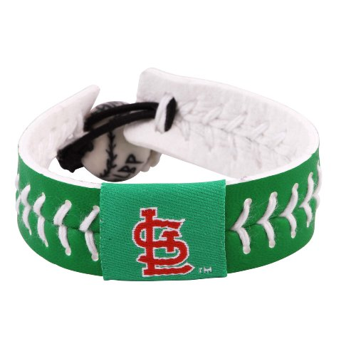Gamewear 4421400493 St. Louis Cardinals St. Patricks Day Baseball Bracelet