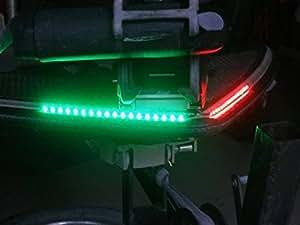 Green Blob Outdoors Boat Bow LED Navigation Light Kit, Red & Green Strips for Bass boats, Pontoon, Ski, Canoes, Kayaks, Triton, Ranger, BassCat, Nitro, Tracker Marine, Legend, Skeeter, Sun Tracker