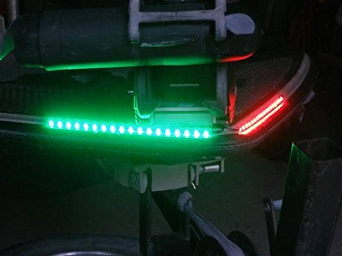 Green Blob Outdoors Boat Bow LED Navigation Light Kit, Red & Green Strips for Bass boats, Pontoon, Ski, Canoes, Kayaks, Triton, Ranger, BassCat, Nitro, Tracker Marine, Legend, Skeeter, Sun Tracker