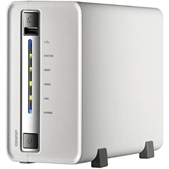 QNAP TS-212P-US 2-Bay Personal Cloud NAS, DLNA, Mobile App, iSCSI Supported (TS-212P-US)