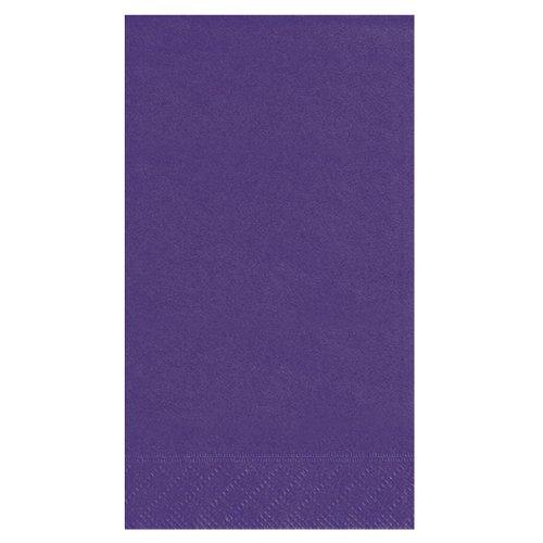 Dark Purple Paper Guest Napkins