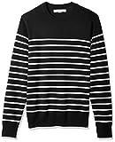 Amazon Essentials Men's Standard Crewneck Stripe Sweater