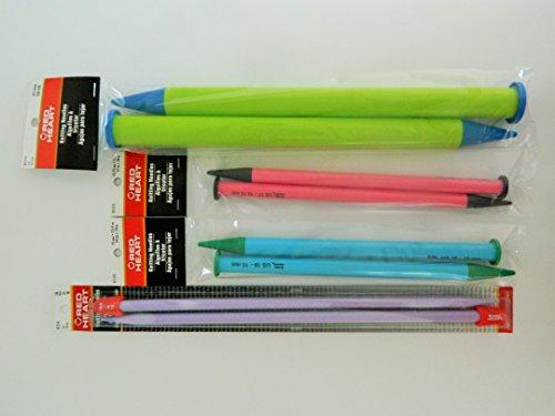 Knitting Needles Lot Bundle Size 15, 17, 19, 50 Broomstick Lace Pin - Single Point