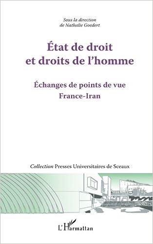 Book Etat de droit et droits de l'homme: Echanges de points de vue France-Iran
