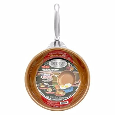 """Set 3 Sizes Gotham Steel Ceramic and Titanium Nonstick Fry Pans (9.5"""", 11"""" and 12.5"""" set) by Chef Daniel Green - NEW!"""