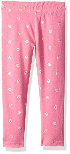 Gymboree Girls' Big' Leggings, Golden Flower Pink, S
