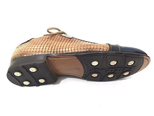 Harris - Zapatos de cordones de Piel para hombre beige CROSTA DI PANE E BLU