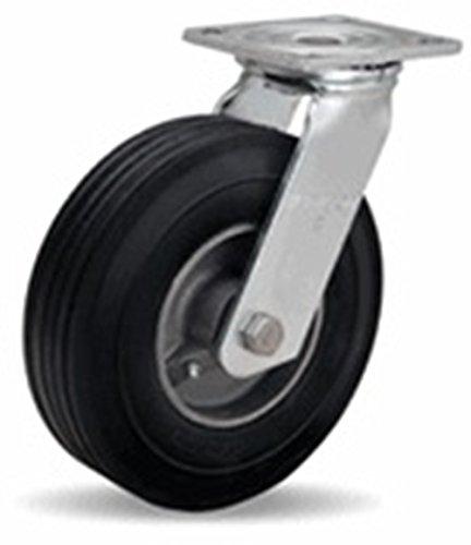 "Hamilton 8"" Cush-N-Flex Pneumatic Swivel Plate Caster, 500 lb Capacity from Access Casters Inc."