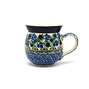 Polish Pottery Mug – 15 oz. Bubble – Huckleberry