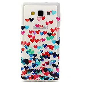 YULIN Love Pattern TPU Relief Back Cover Case for Samsung Galaxy A7