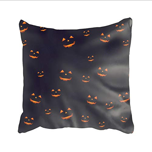 Ranhkdn Home Decor Personalized Halloween Happy Zippered Throw Pillow Cover Cushion Case 18x18 (one Side)]()