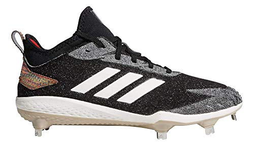 the best attitude da4f3 560d7 adidas Mens Adizero Afterburner V Fusion Metal Baseball Cleats (12, Black White)