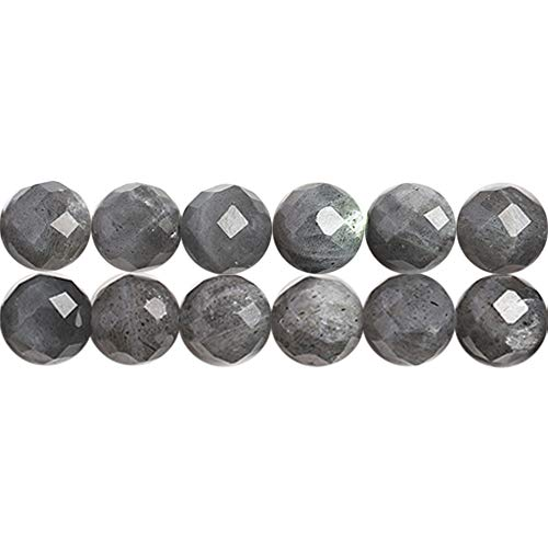 SKYBEADS Faceted Gray Moonstone Beads for Jewelry Making Natural AA Grade Blue Flash Moon Gemstones Sold by One Strand 15 Inches APX 46 Pcs Hole Size 1mm (Blue Moon Bead Strands)