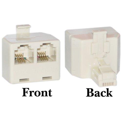 Phone Splitter  Straight   Rj11 6P4c Male To 2 Rj11 6P4c Female