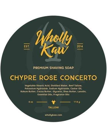 Wholly Kaw Tallow and Donkey Milk Shaving Soap, Chypre Rose Concerto