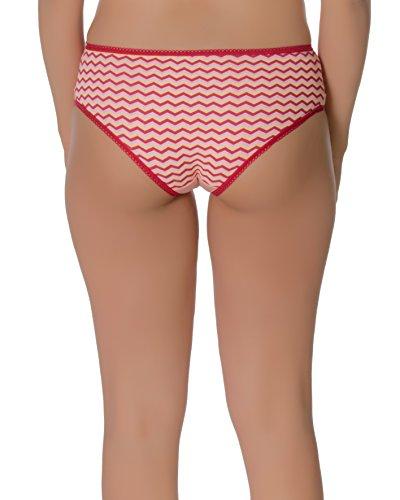 Solo® Modische Damenunterwäsche mit Muster, 3er Pack Low Schnitt Bikini Slips Weich Bikini Alltags Hüftslip Panty COTTON Unterhose. Styles zum Wohlfühlen in Business, Sport, und Tanzen. Schlüpfer.