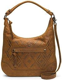 Melissa Studded Large Zip Hobo Handbag