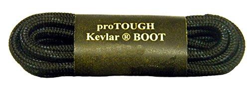 GREATLACES (1 Pair Pack) Black w/Black Kevlar proTOUGH(tm) Reinforced Heavy Duty Boot Laces Shoelaces (63 inch 160 ()