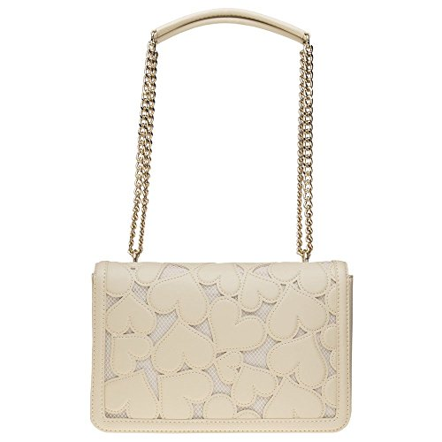 Love Moschino Chain Heart Womens Handbag Natural by Love Moschino (Image #2)