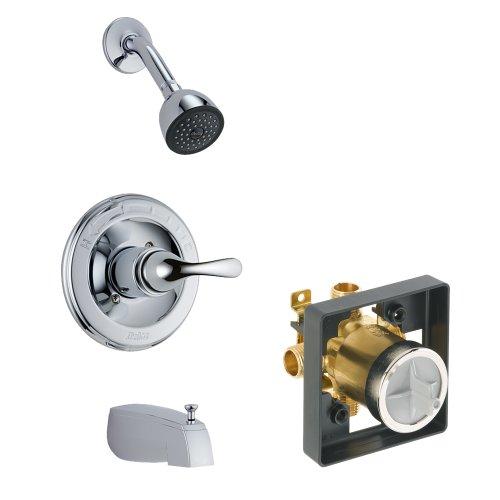 Pressure Balance Classic Shower (Delta Delta KTSDCL-T13420SOS-CH Classic Tub/Shower Kit Pressure-Balance Single-Function Cartridge, Chrome Chrome)
