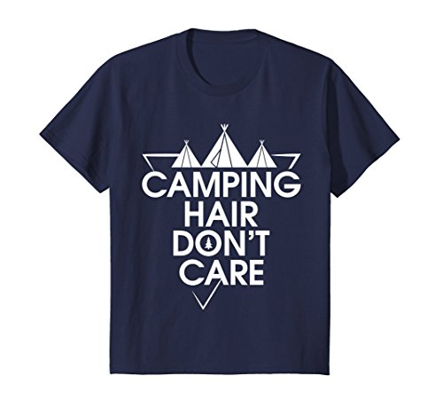 Price comparison product image Kids CAMPING HAIR DON'T CARE FUNNY CARAVANING SHIRT 12 Navy