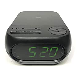Onn CD/AM/FM Alarm Clock Radio with USB Port to Charge Devices + Aux-in Jack, Top Loading CD Player ONA 202 (Renewed)