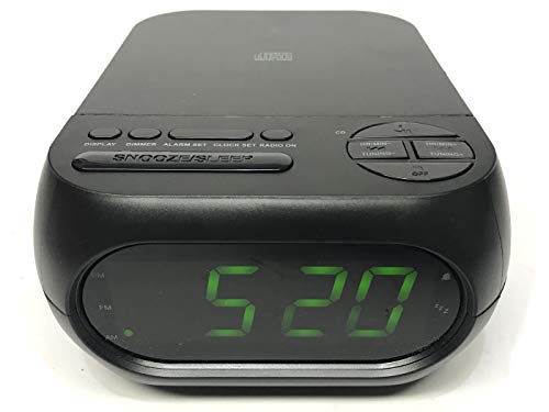 Onn CD/AM/FM Alarm Clock Radio with USB Port to Charge Devices + Aux-in Jack, Top Loading CD Player ONA 202 - Refurbished