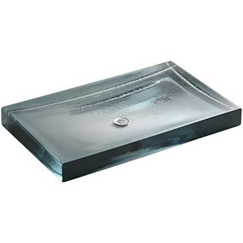 hot sale 2017 KOHLER K-2369-B11 Antilia Wading Pool Glass Countertop Bathroom Sink, Ice