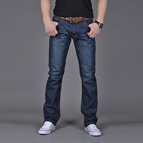 Pants Cher Sonnena pantalon Jeans Homme Pantalon Pas Fuselé Regular Homme Bleu En Dechire Jean Taille Denim Workwear Casual Grande Vintage ZgnYfxqBn